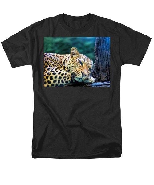 Men's T-Shirt  (Regular Fit) featuring the photograph Leopard 1 by Dawn Eshelman