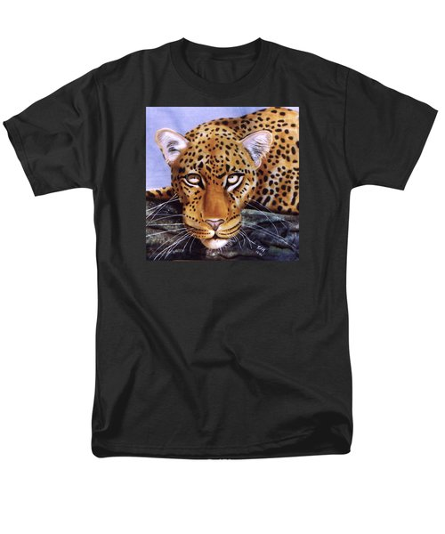 Leopard In A Tree Men's T-Shirt  (Regular Fit) by Thomas J Herring
