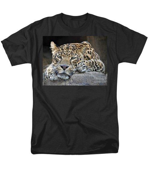 Men's T-Shirt  (Regular Fit) featuring the photograph Leopard by Savannah Gibbs