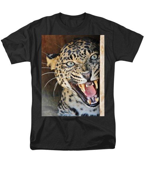 Leopard Snarling Men's T-Shirt  (Regular Fit) by Diane Alexander