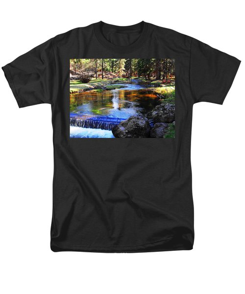 Life By A Babbling Brook Men's T-Shirt  (Regular Fit) by Natalie Ortiz