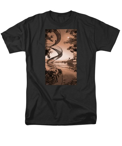 Men's T-Shirt  (Regular Fit) featuring the digital art Life Without Stairs by Shinji K