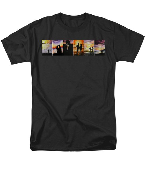 Men's T-Shirt  (Regular Fit) featuring the painting Life's A Beach by Tamir Barkan