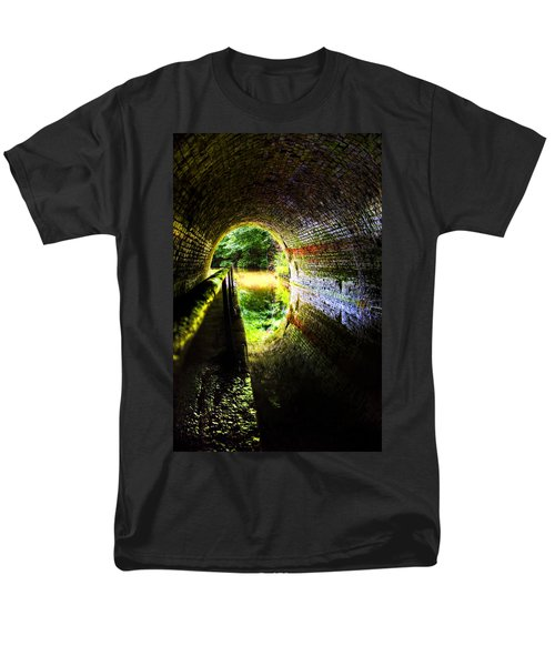 Men's T-Shirt  (Regular Fit) featuring the photograph Light At The End Of The Tunnel by Meirion Matthias