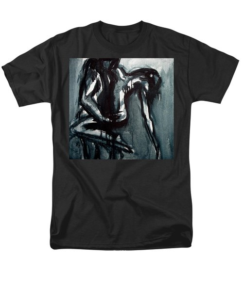 Men's T-Shirt  (Regular Fit) featuring the painting Light In The Darkness by Jarmo Korhonen aka Jarko