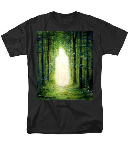 Light In The Garden Men's T-Shirt  (Regular Fit) by Heather Calderon