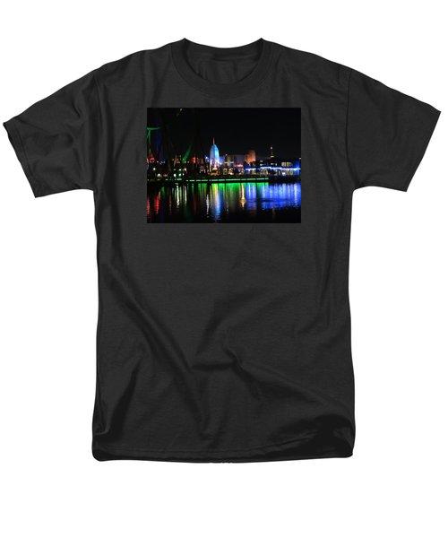 Light Reflections At Night Men's T-Shirt  (Regular Fit) by Kathy Long