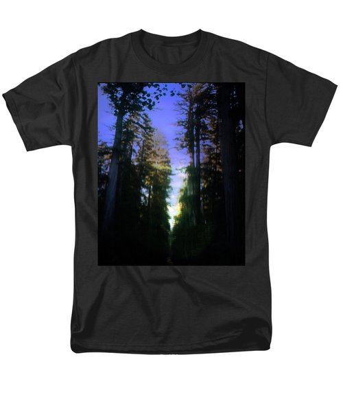 Men's T-Shirt  (Regular Fit) featuring the digital art Light Through The Forest by Cathy Anderson