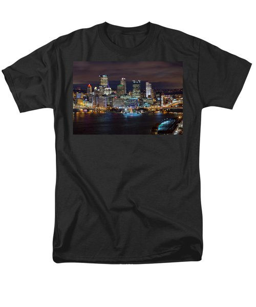 Light Up Night Pittsburgh 3 Men's T-Shirt  (Regular Fit) by Emmanuel Panagiotakis