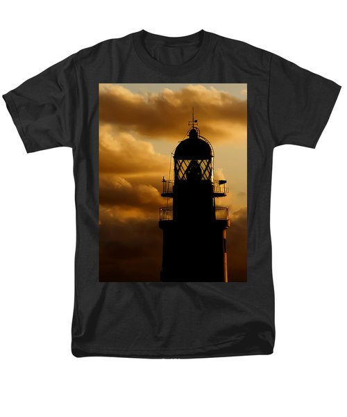 lighthouse dawn in the north coast of Menorca Men's T-Shirt  (Regular Fit) by Pedro Cardona