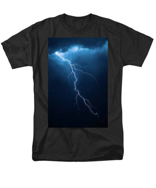 Lightning With Cloudscape Men's T-Shirt  (Regular Fit) by Johan Swanepoel