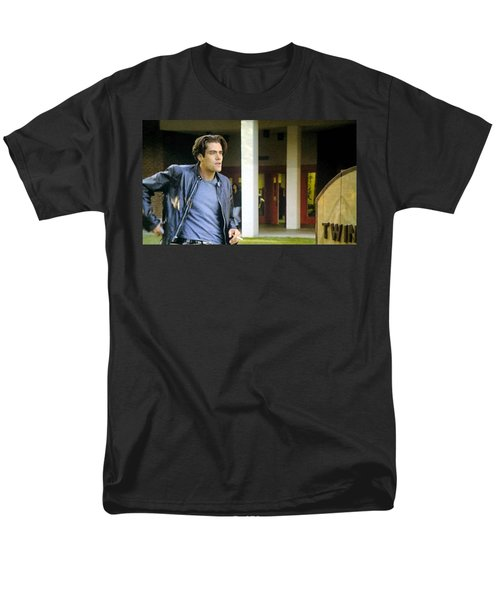 Men's T-Shirt  (Regular Fit) featuring the painting Lights Start Changing by Luis Ludzska