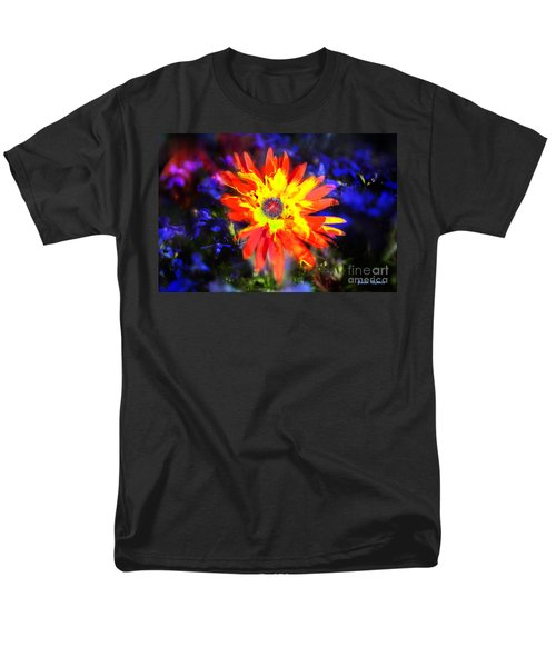 Lily In Vivd Colors Men's T-Shirt  (Regular Fit) by Gunter Nezhoda