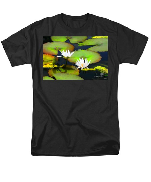 Lily Pond Bristol Rhode Island Men's T-Shirt  (Regular Fit)
