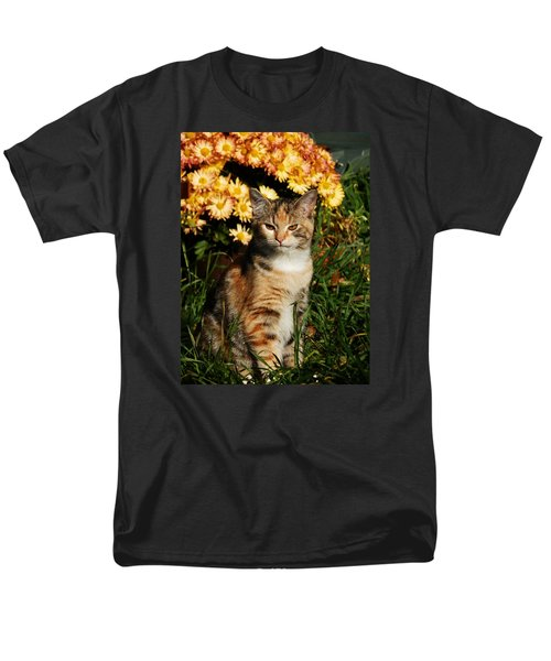 Lily With Harvest Mums Men's T-Shirt  (Regular Fit) by VLee Watson