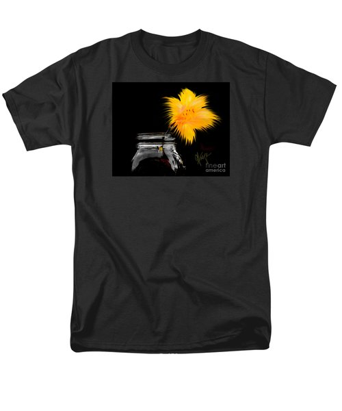 Men's T-Shirt  (Regular Fit) featuring the photograph Lily Yellow by Chris Fraser