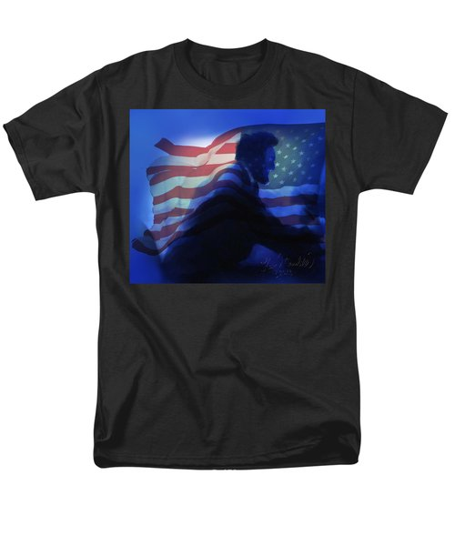 Lincoln Men's T-Shirt  (Regular Fit) by Kevin Caudill