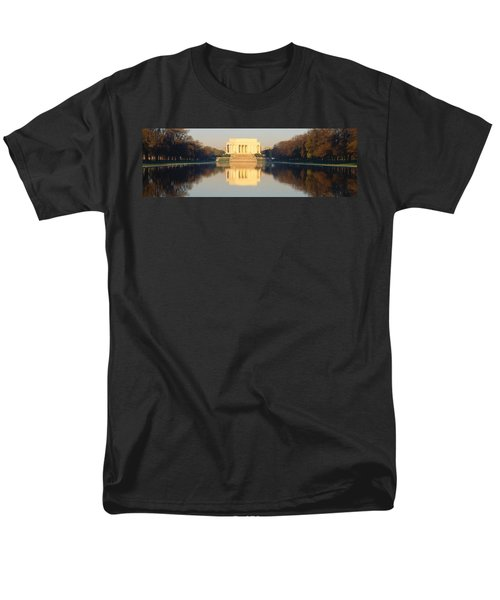 Lincoln Memorial & Reflecting Pool Men's T-Shirt  (Regular Fit) by Panoramic Images