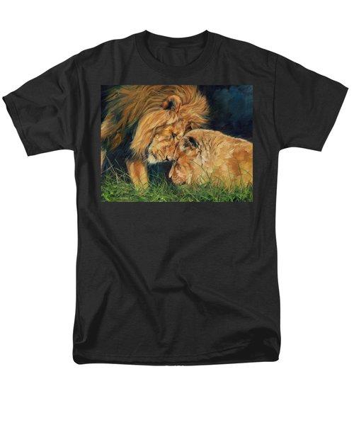 Lion  Love Men's T-Shirt  (Regular Fit) by David Stribbling
