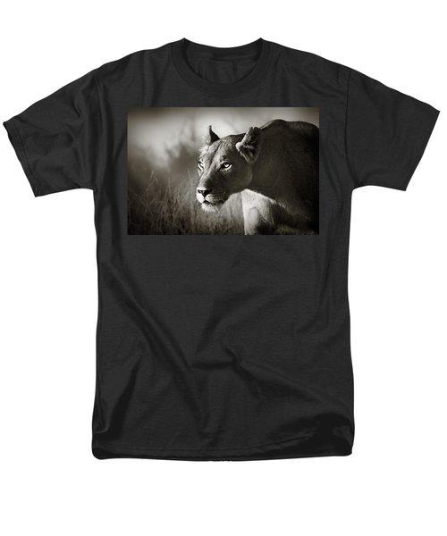 Lioness Stalking Men's T-Shirt  (Regular Fit) by Johan Swanepoel