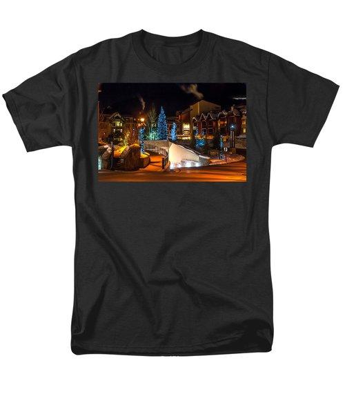 Lions Head Village Vail Colorado Men's T-Shirt  (Regular Fit) by Brenda Jacobs