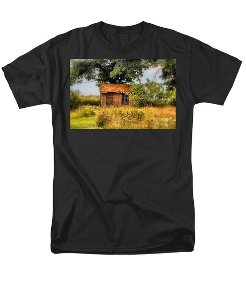 Men's T-Shirt  (Regular Fit) featuring the photograph Little House On The Prairie by Peggy Franz