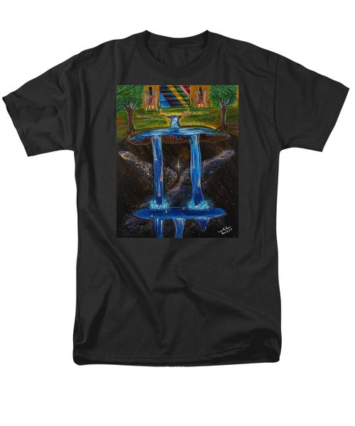 Men's T-Shirt  (Regular Fit) featuring the painting Living Water by Cassie Sears