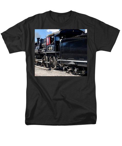 Men's T-Shirt  (Regular Fit) featuring the photograph Locomotive With Tender by Gunter Nezhoda