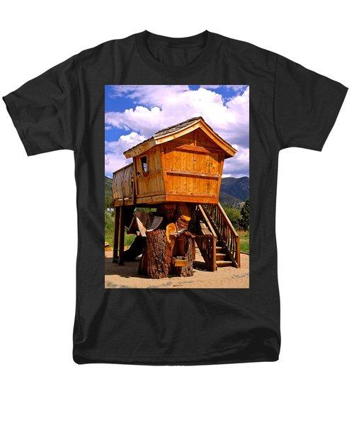 Log Cabin Penthouse Men's T-Shirt  (Regular Fit) by Jeff Gater