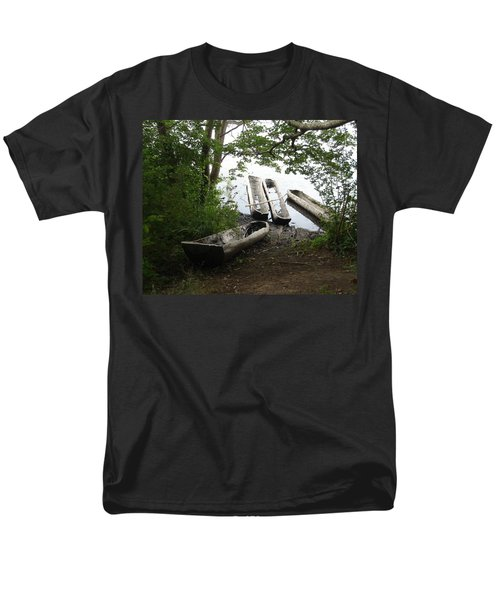 Men's T-Shirt  (Regular Fit) featuring the photograph Log Canoes by Kerri Mortenson