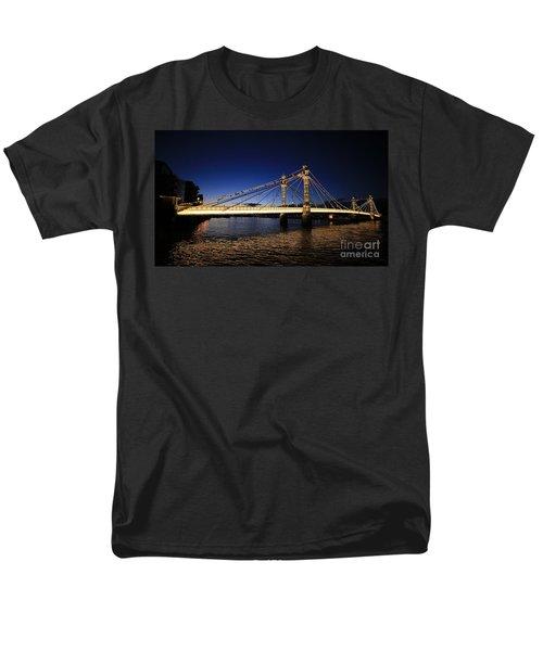 Men's T-Shirt  (Regular Fit) featuring the photograph London Albert Bridge  by Mariusz Czajkowski