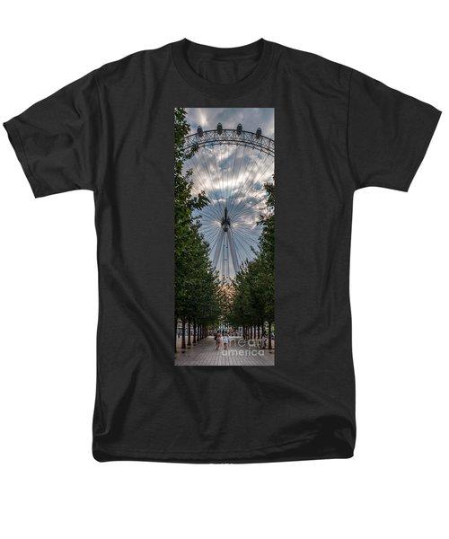 Men's T-Shirt  (Regular Fit) featuring the photograph London Eye Vertical Panorama by Matt Malloy