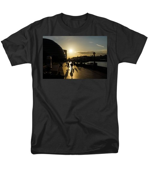 Men's T-Shirt  (Regular Fit) featuring the photograph London Silhouettes  by Georgia Mizuleva