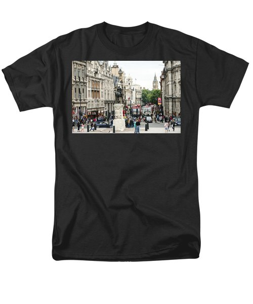 London Whitehall Men's T-Shirt  (Regular Fit) by Chevy Fleet