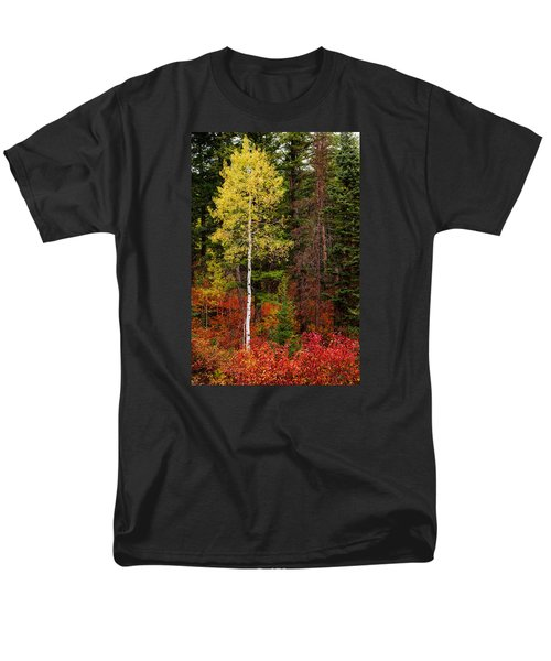 Lone Aspen In Fall Men's T-Shirt  (Regular Fit) by Chad Dutson