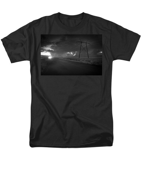 Men's T-Shirt  (Regular Fit) featuring the photograph Long Road Home by Bradley R Youngberg