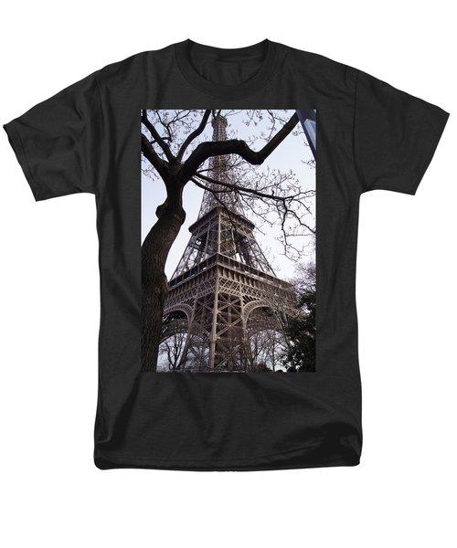 Looking Up To Eiffel  Men's T-Shirt  (Regular Fit) by Debi Demetrion