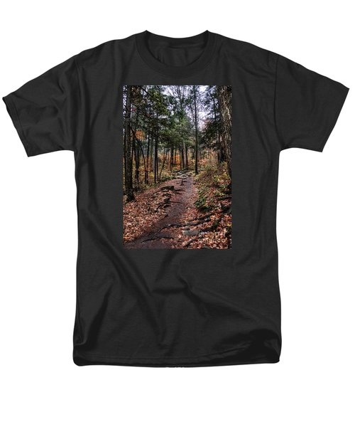 Men's T-Shirt  (Regular Fit) featuring the photograph Lost In Thought On The Blue Ridge Parkway Trail by Debbie Green