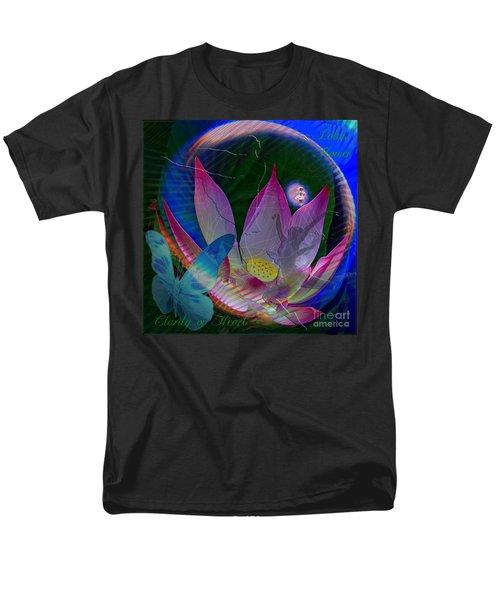 Lotus Flower Energy Men's T-Shirt  (Regular Fit) by Joseph Mosley