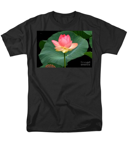 Lotus Of Late August Men's T-Shirt  (Regular Fit) by Byron Varvarigos