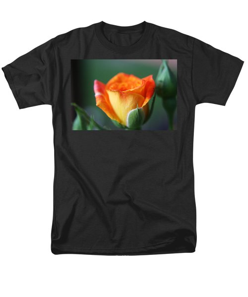 Men's T-Shirt  (Regular Fit) featuring the photograph Louisiana Orange Rose by Ester  Rogers