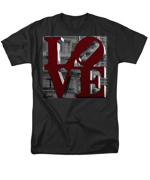 Love Philadelphia Red Mosaic Men's T-Shirt  (Regular Fit) by Terry DeLuco