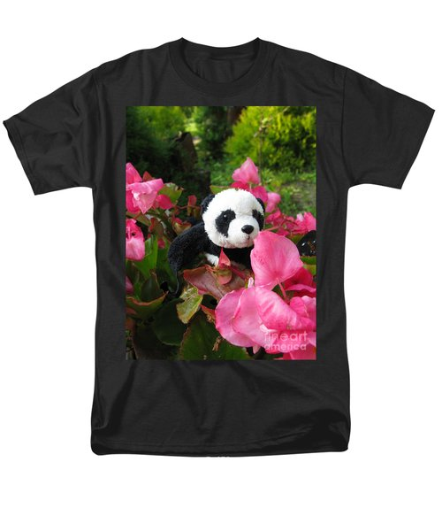 Lovely Pink Flower Men's T-Shirt  (Regular Fit) by Ausra Huntington nee Paulauskaite