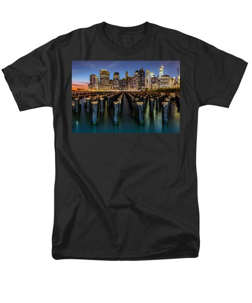 Lower Manhattan Men's T-Shirt  (Regular Fit) by Mihai Andritoiu