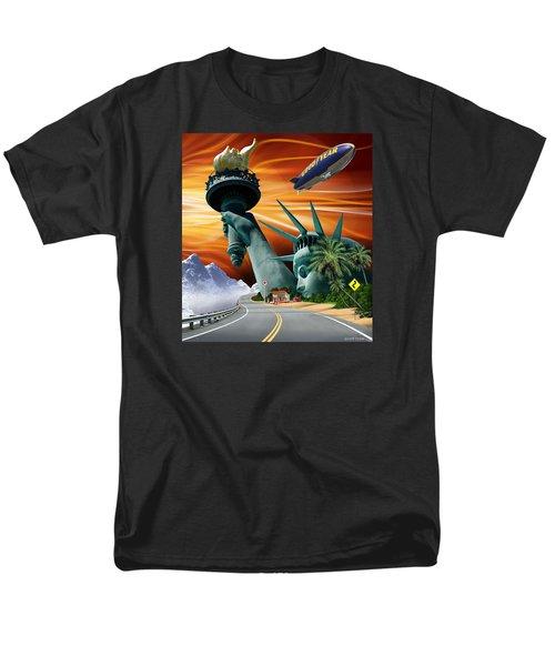Men's T-Shirt  (Regular Fit) featuring the digital art Lucky Star by Scott Ross