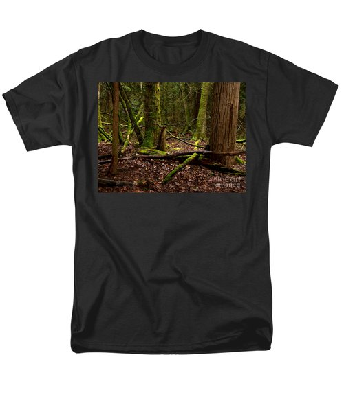 Lush Green Forest Men's T-Shirt  (Regular Fit) by Mary Mikawoz
