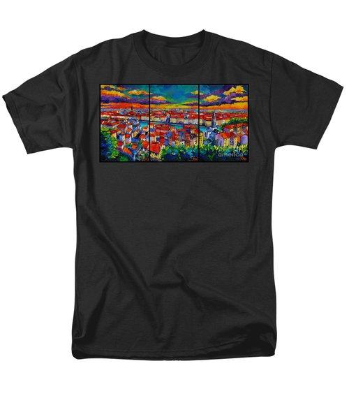 Lyon Panorama Triptych Men's T-Shirt  (Regular Fit)