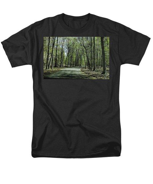 M119 Tunnel Of Trees Michigan Men's T-Shirt  (Regular Fit) by LeeAnn McLaneGoetz McLaneGoetzStudioLLCcom