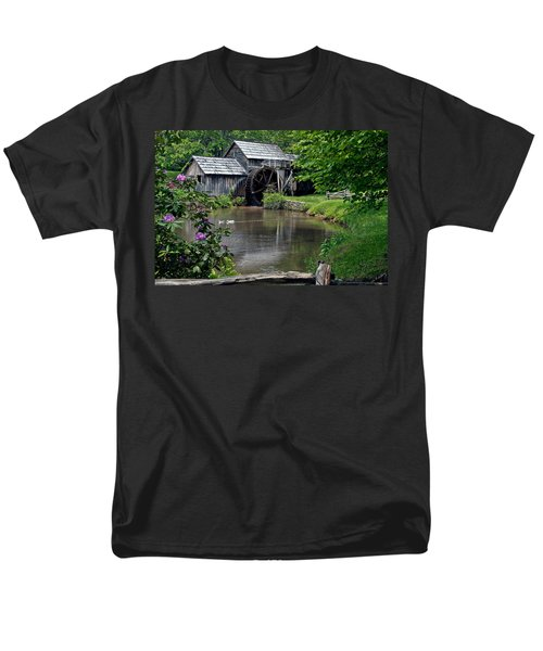 Men's T-Shirt  (Regular Fit) featuring the photograph Mabry Mill In May by John Haldane