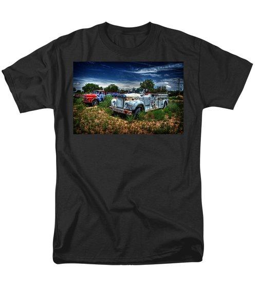 Men's T-Shirt  (Regular Fit) featuring the photograph Mack Fire Truck And Graffiti Fire Truck by Ken Smith